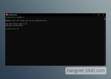 Cài đặt PHP trên Ubuntu Subsystem trên Windows 10